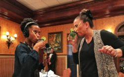 2-1-19 Andrea Gonzmart Williams and Dalia Colon tasting mojitos - credit Jeff Houck