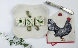 Garden+Herb+Butter+Recipe+AnAppealingPlan.com+by+@KraylFunch+Fresh+Basil+Oregano+Taragon+on+plate+with+#Caspari+Chicken+Hen+Rooster+Napkin1024x640