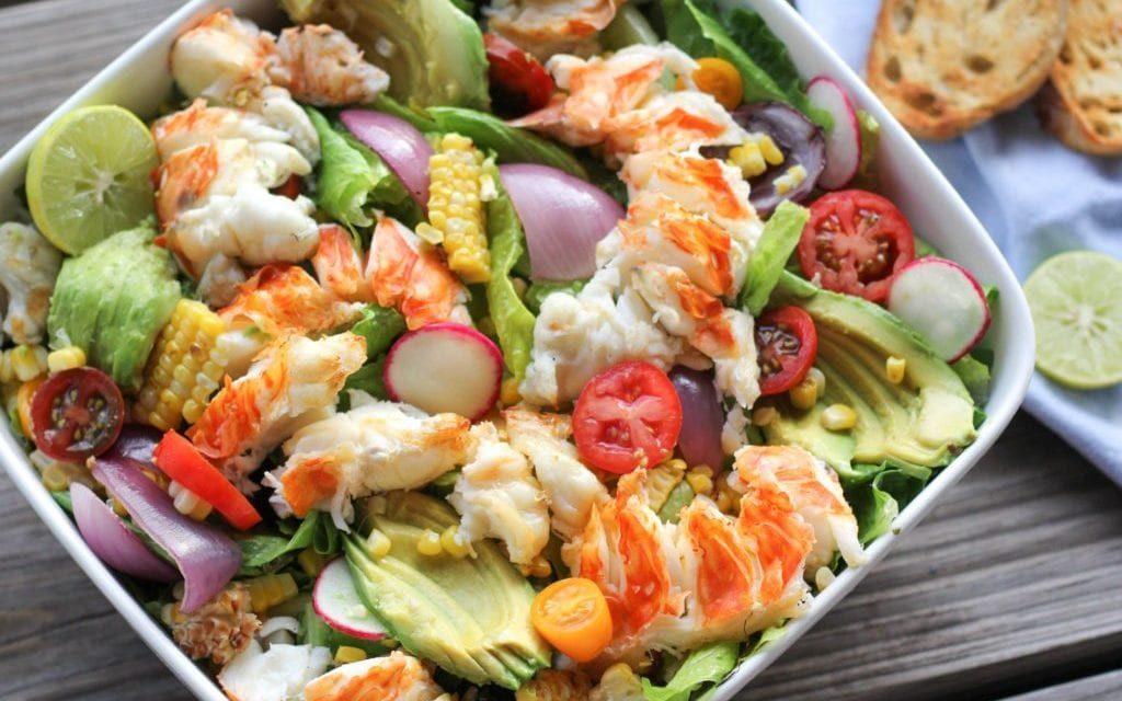 grilled florida lobster salad