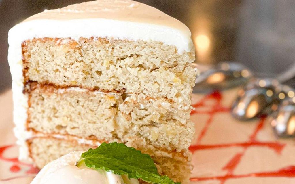 1024x640_Hummingbird-Cake-Gastrique-and-Ice-Cream - credit Chef Art Smith's Homecomin' Florida Kitchen